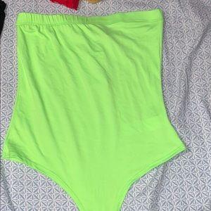 Green body suit